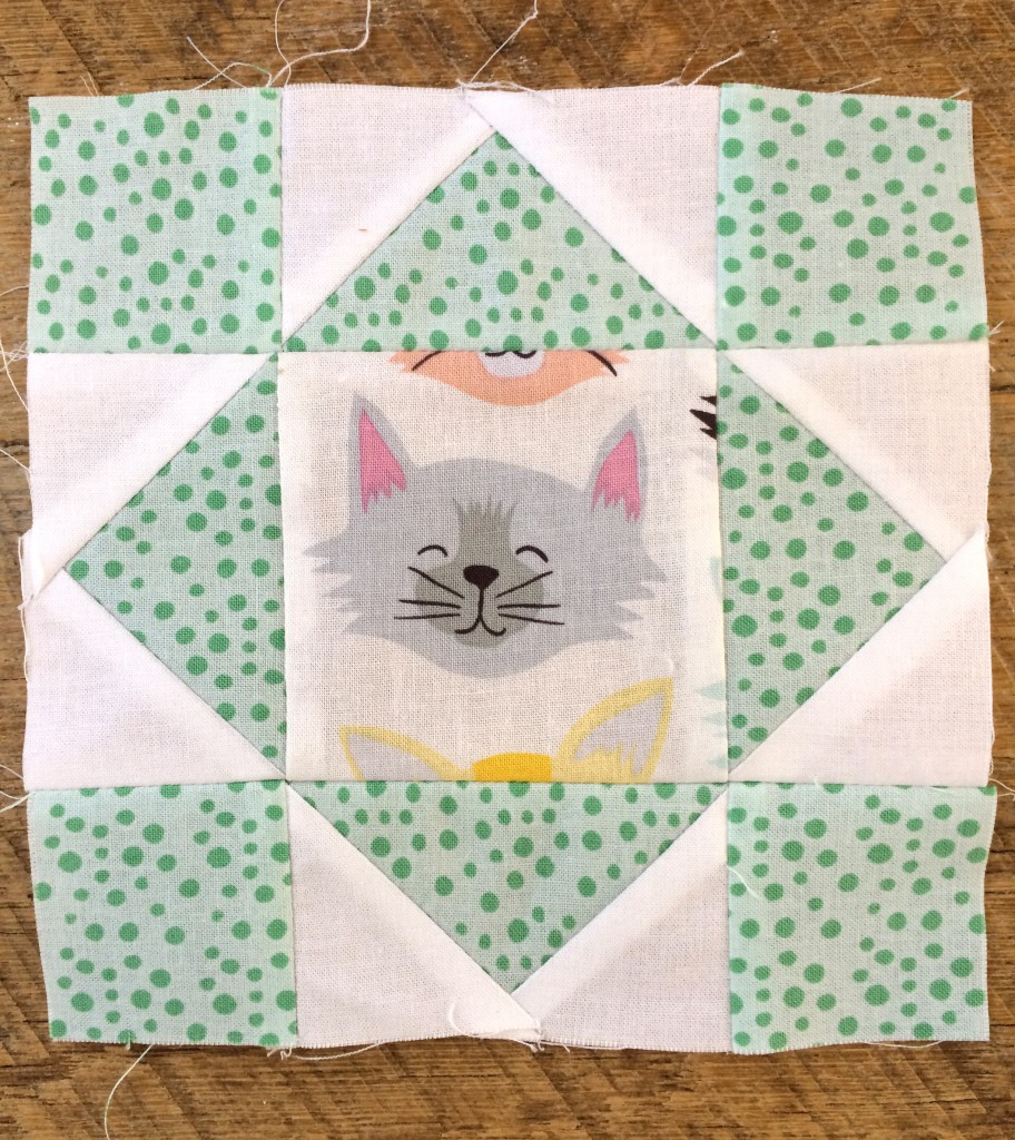 kitty quilter mini quilt 8