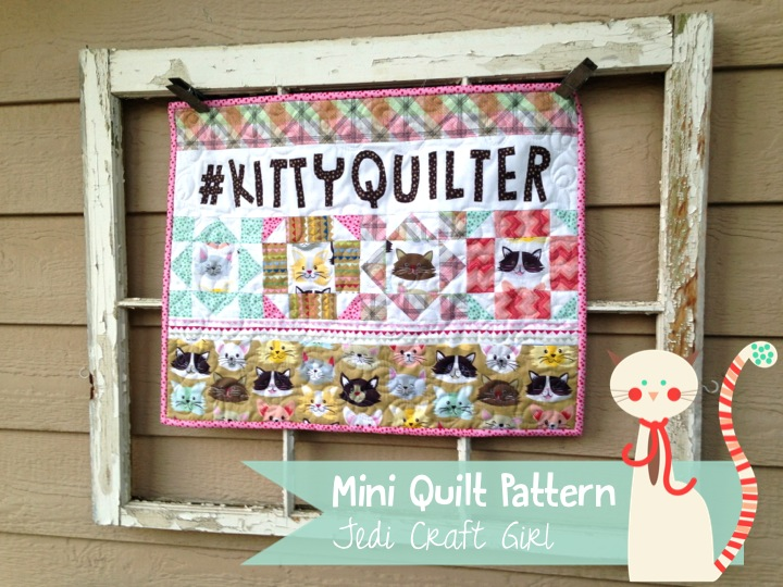 kitty quilter mini quilt