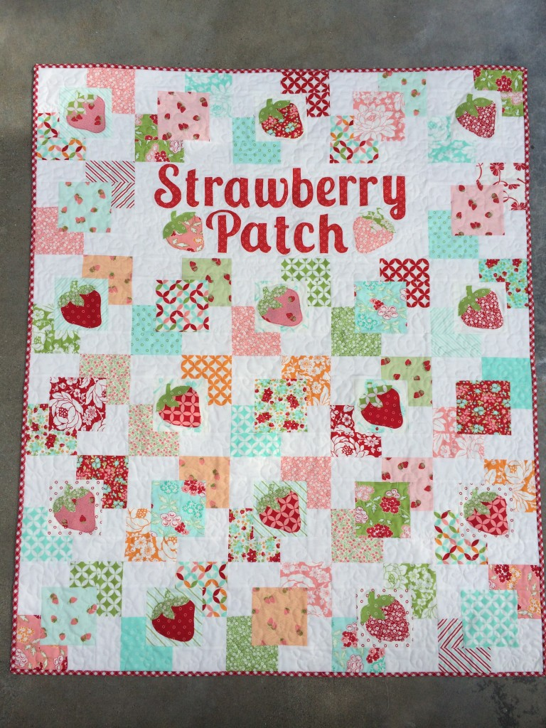 strawberry patch quilt hello darling moda 10
