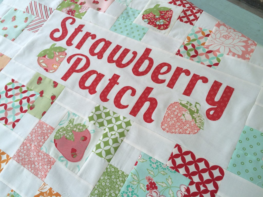 strawberry patch quilt hello darling moda 2