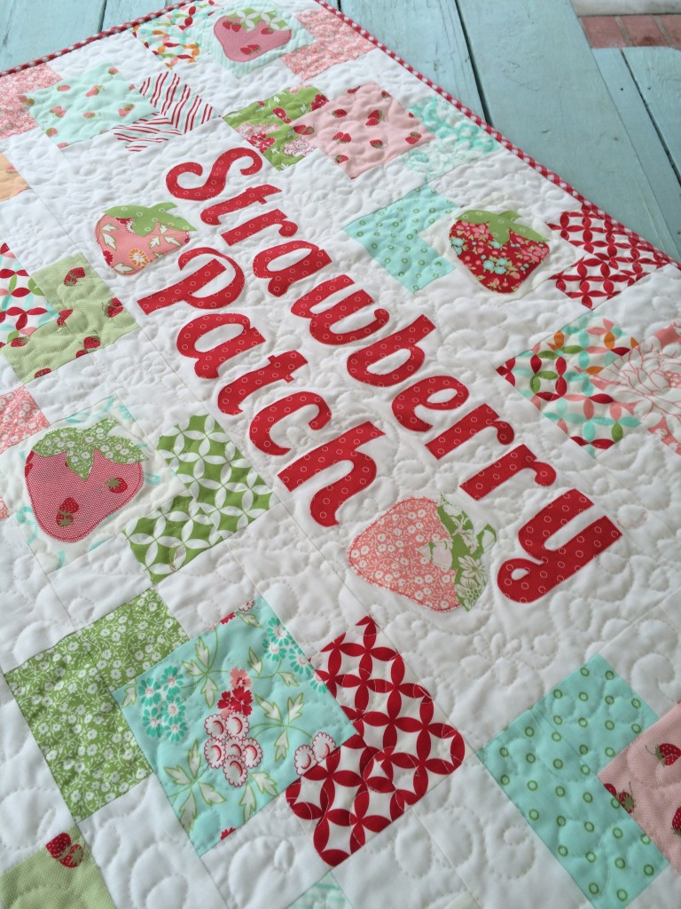 strawberry patch quilt hello darling moda 5