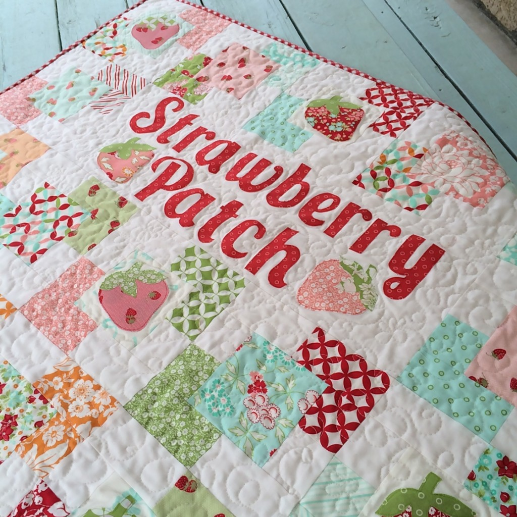 strawberry patch quilt hello darling moda 7