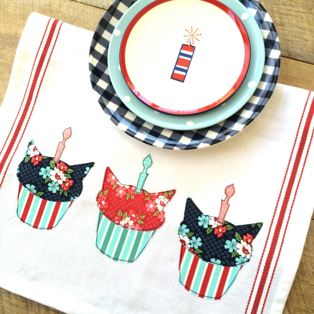 birthday cat cupcake applique day sail 14