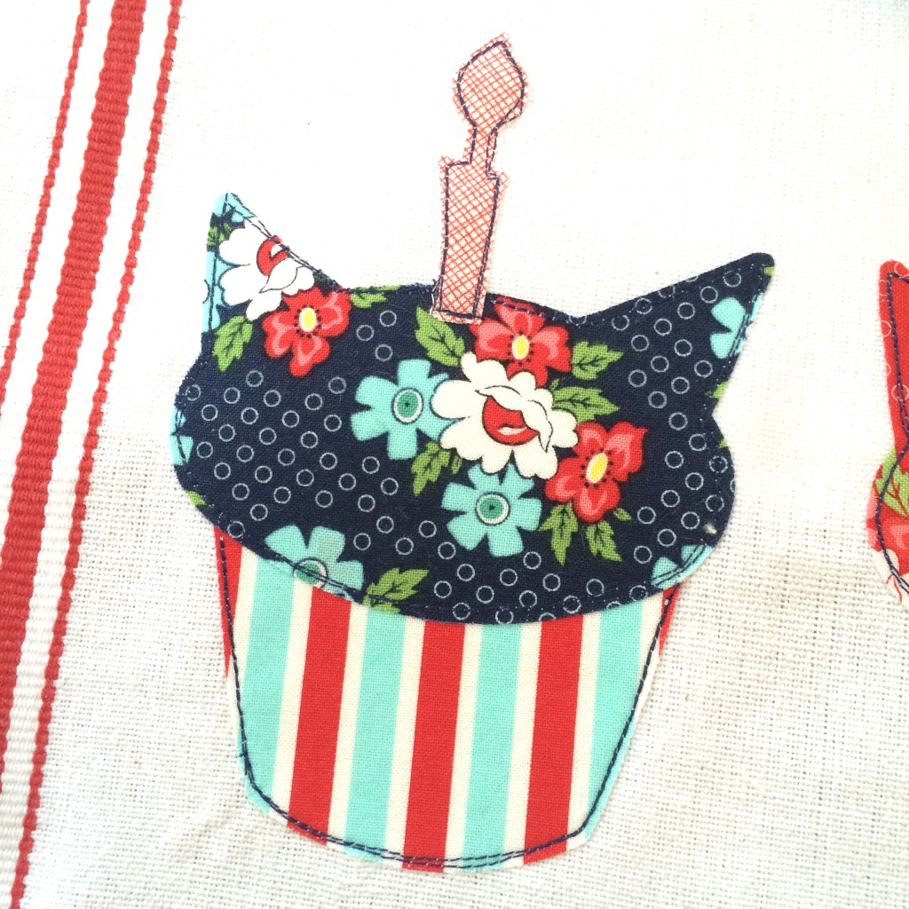 birthday cat cupcake applique day sail 15