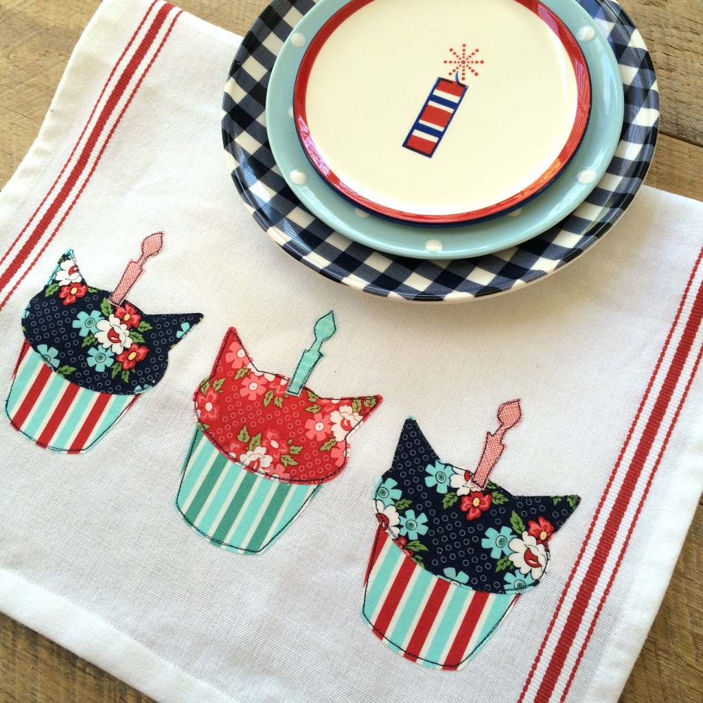 birthday cat cupcake applique day sail 16