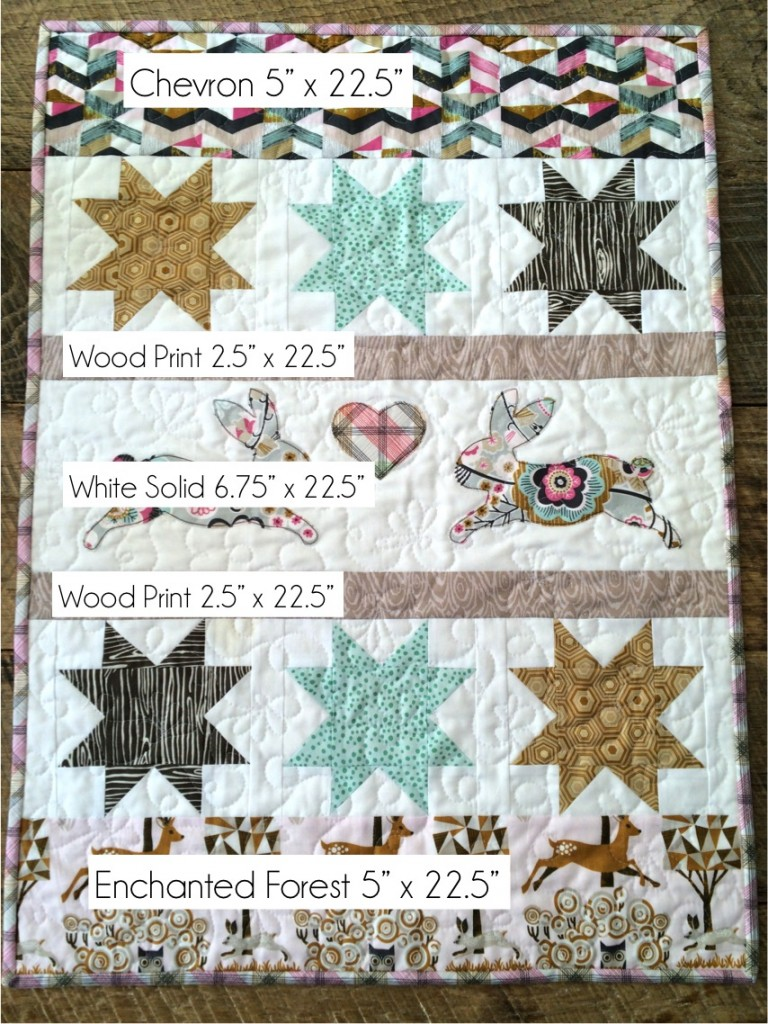 blend bunny quilt layout