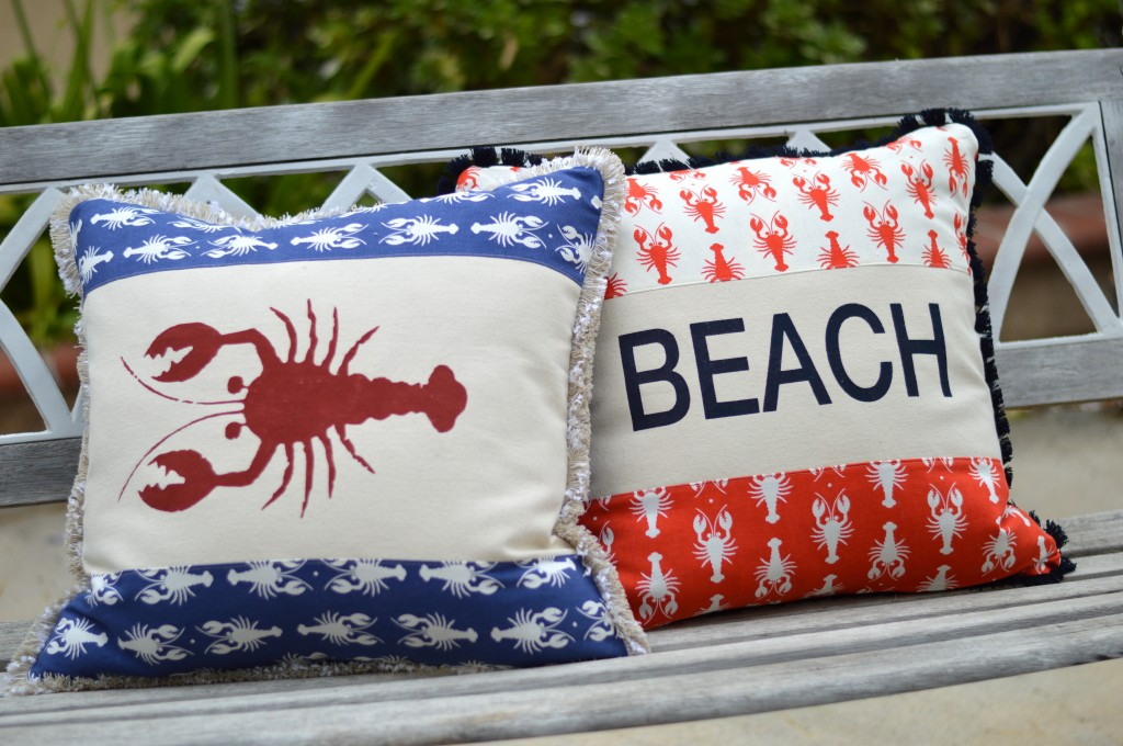 lobster summer pillow riley blake 2