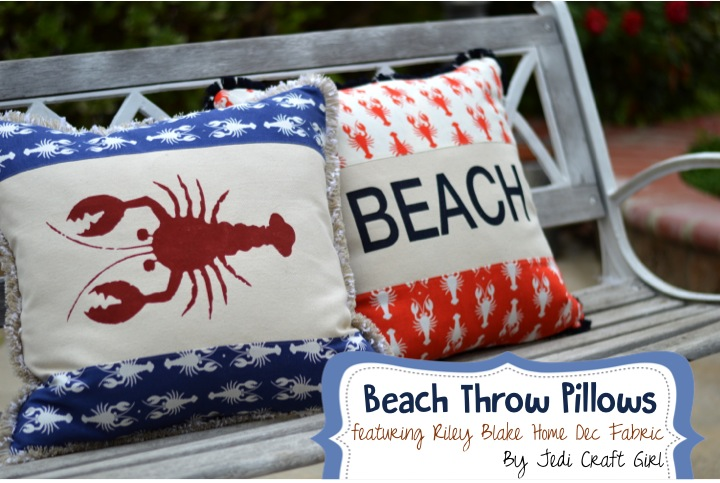 riley blake lobster pillows