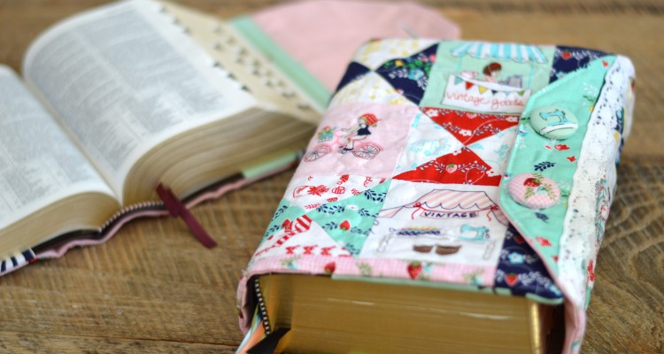 Scripture Cover Tutorial Featuring Vintage Market from Riley Blake Designs
