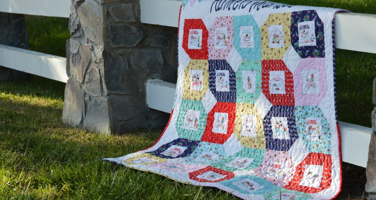 Farmers Market Quilt Pattern featuring Riley Blake Designs Vintage Market