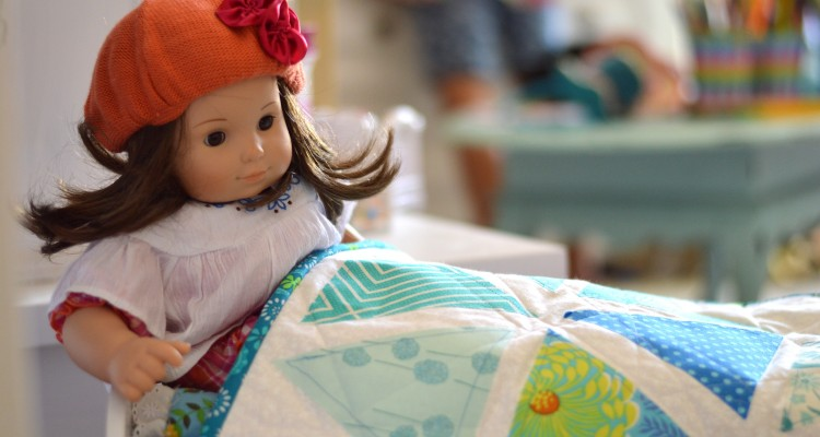 Kids Can Sew!  Sizzix Doll Quilt