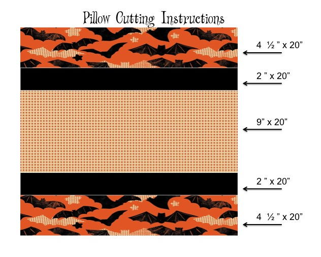 spooktacular pillow cutting guide