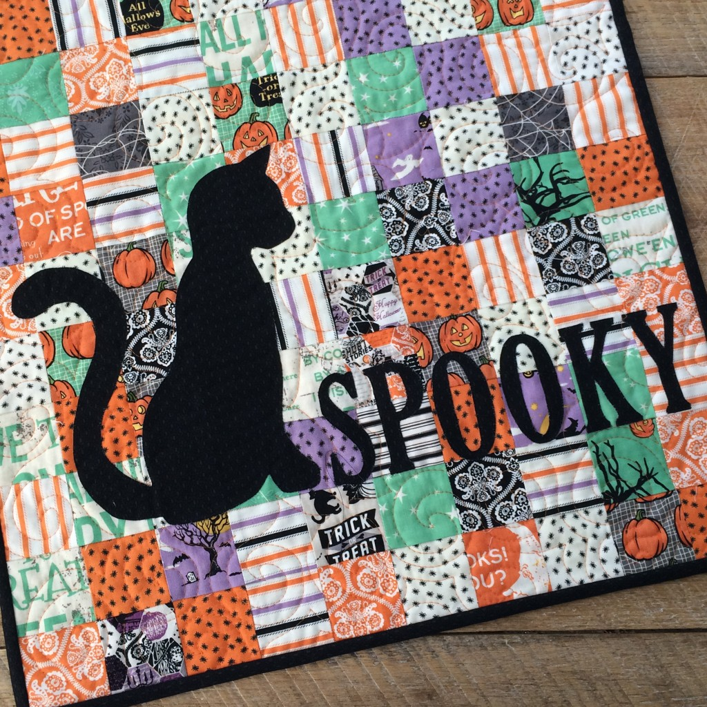 spooky mini quilt 5