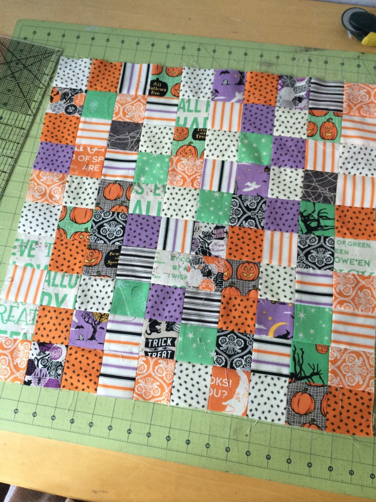 spooky mini quilt