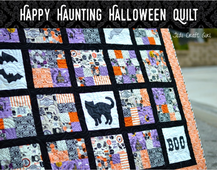 happy haunting halloween quilt cover