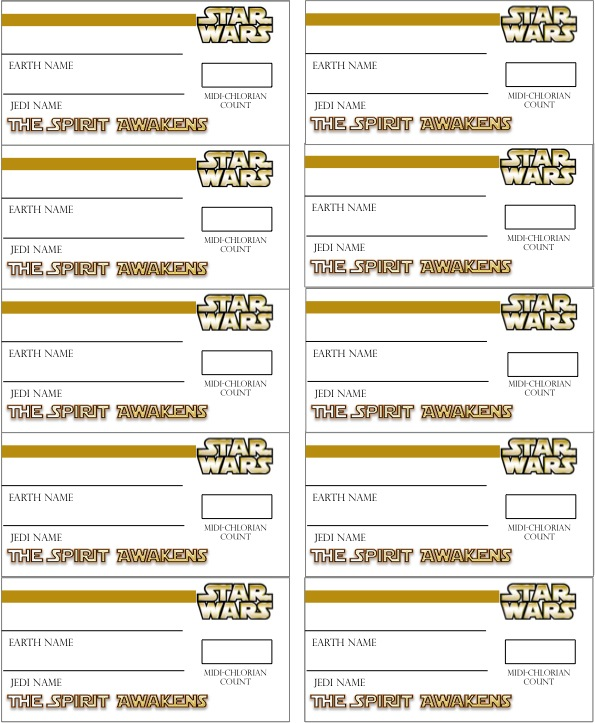 star wars name tags