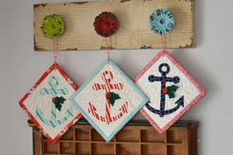 sizzix anchor ornament