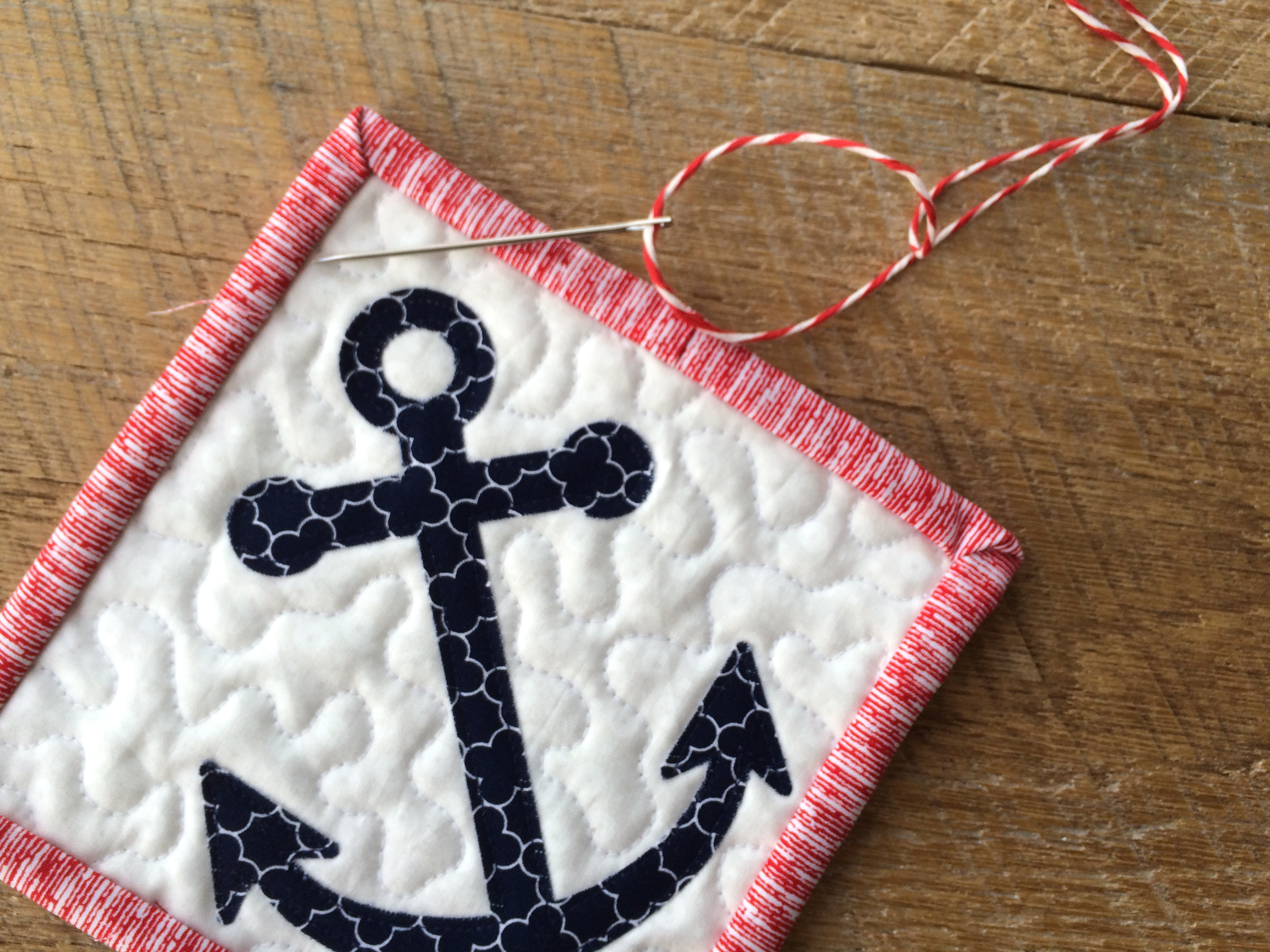 Anchor ornaments - Deck The Halls With Appliqued Anchor Ornaments