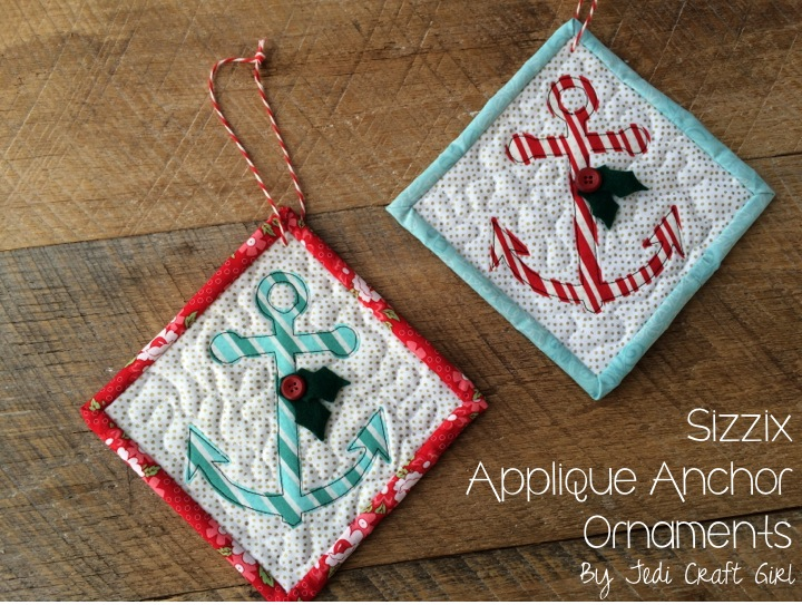 sizzix anchor ornamnets