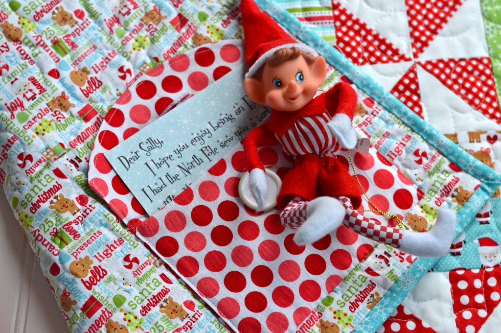christmas quilt elf