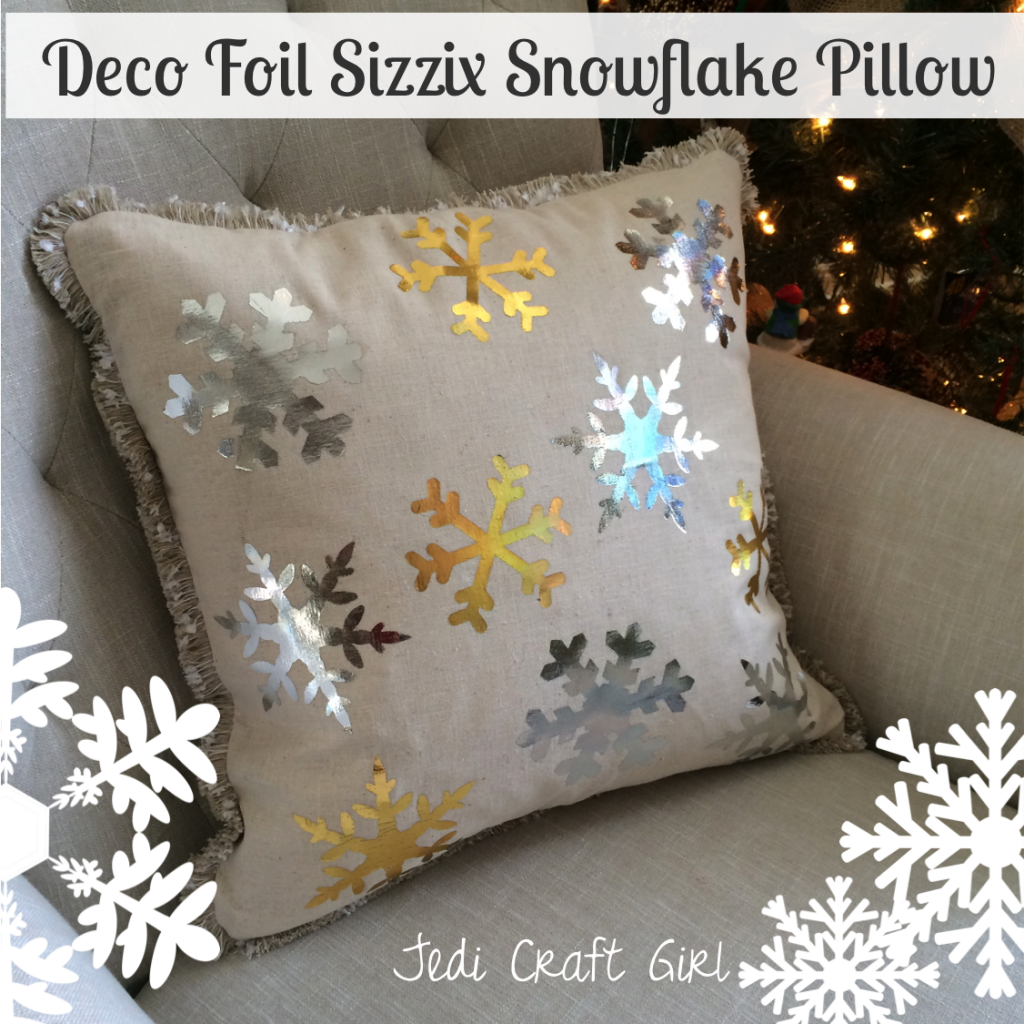 sizzix snowflake pillow