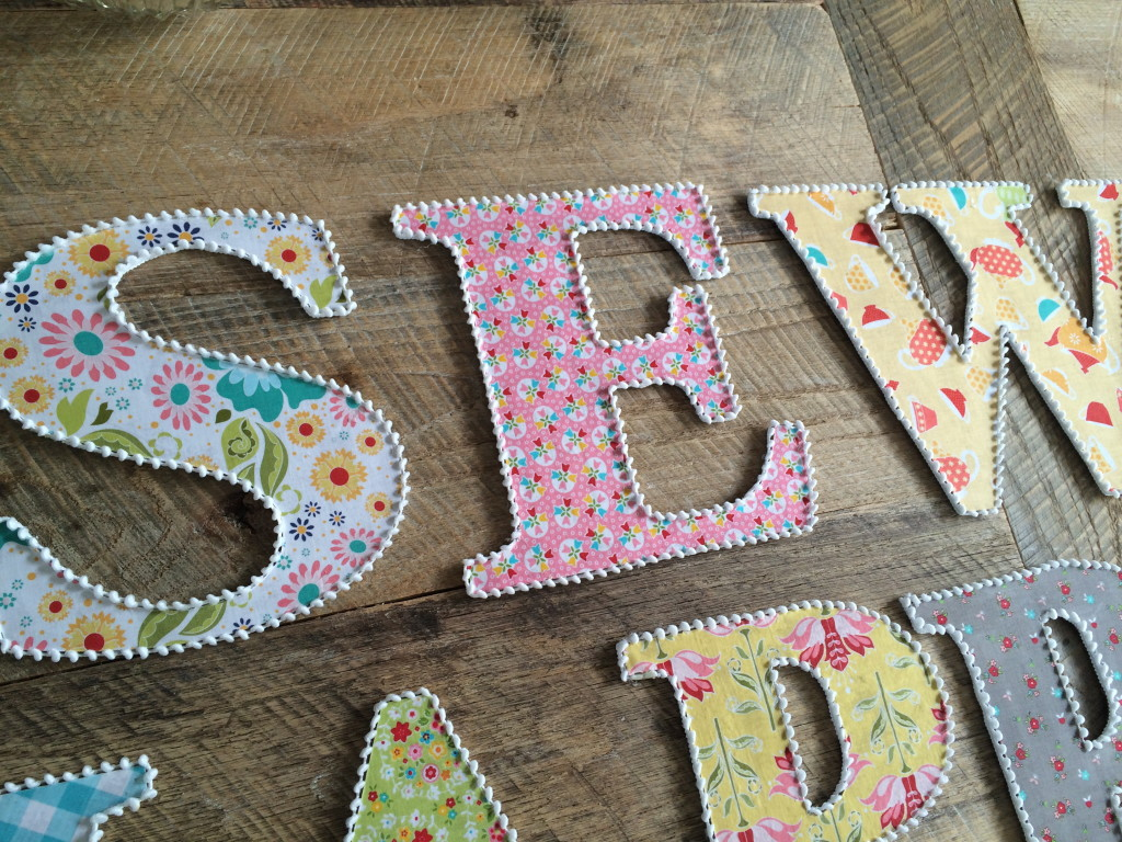 wooden letters covered in fabric Personalised fabric covered wooden letters - available in a range of colours and patterns for your little ones' room - the perfect accessory for a bedroom or an ideal new baby, christening or birthday gift.