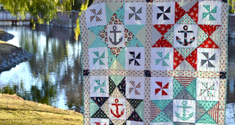 Come Sail Away With Me Nautical Quilt