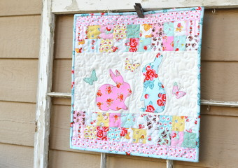 Bunny Mini Quilt and Pillow Featuring EZ Print Sheets