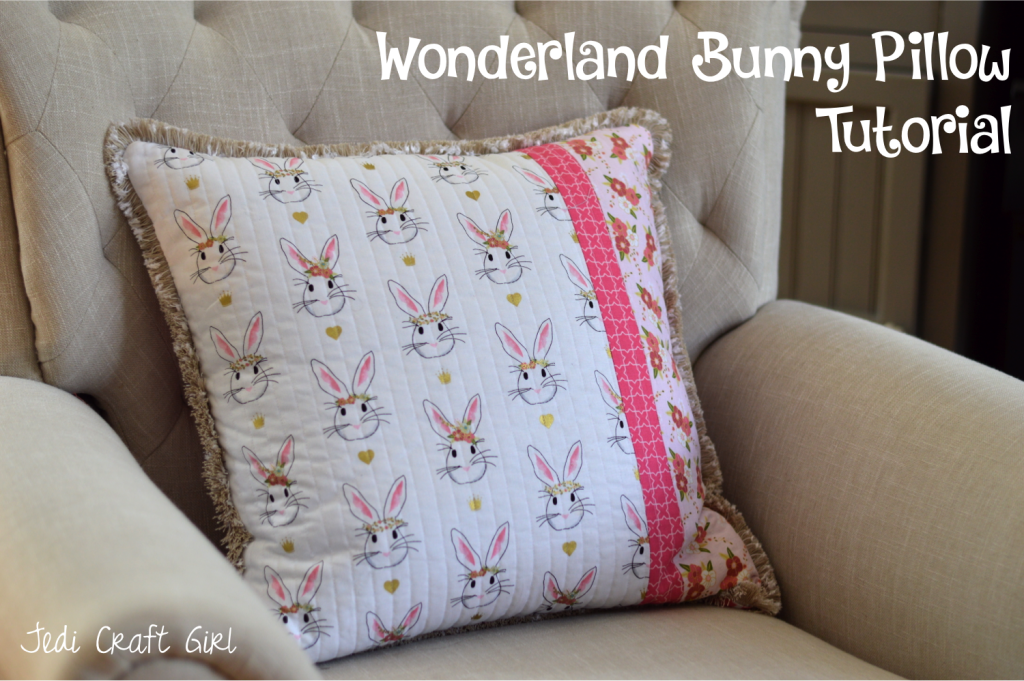 wonderland bunny pillow tutorial