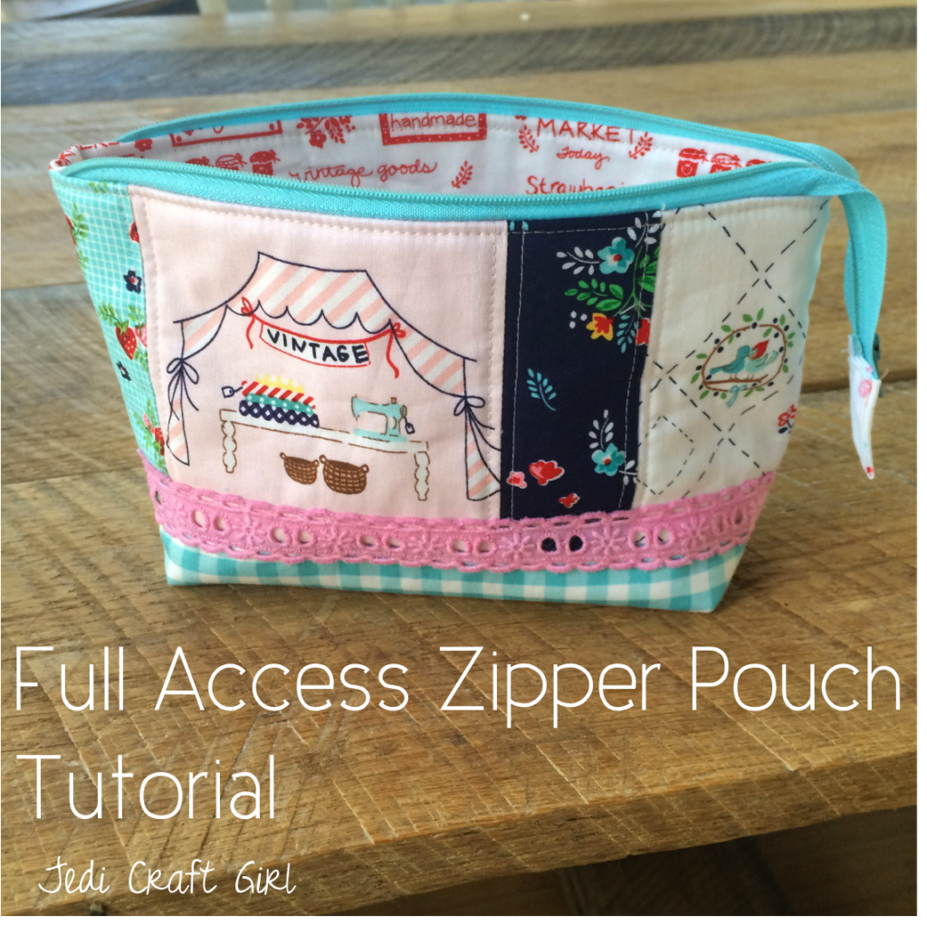 full access zipper pouch tutorial