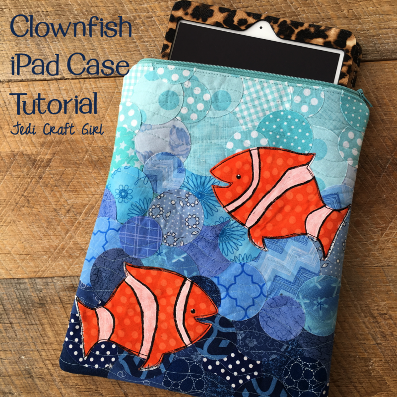 ipad case clownfish sizzix