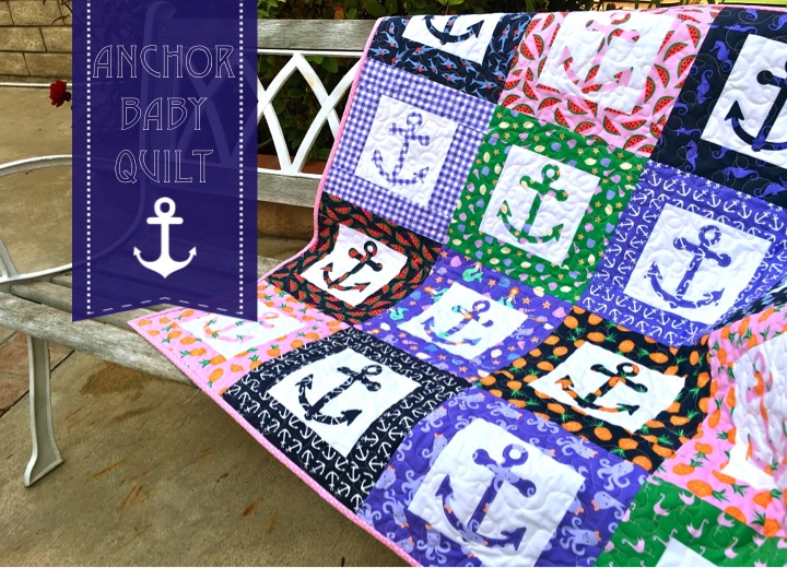 anchor baby quilt cover