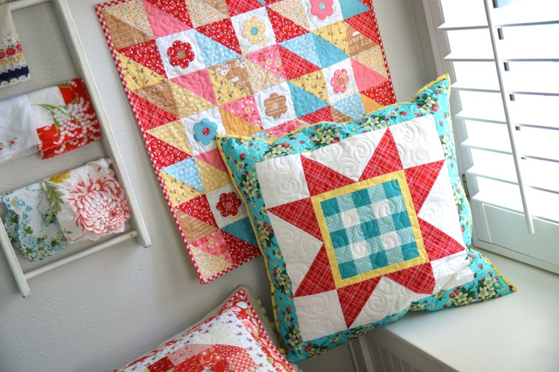 gingham star pillow 2