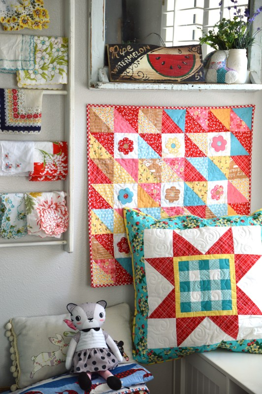 gingham star pillow 3