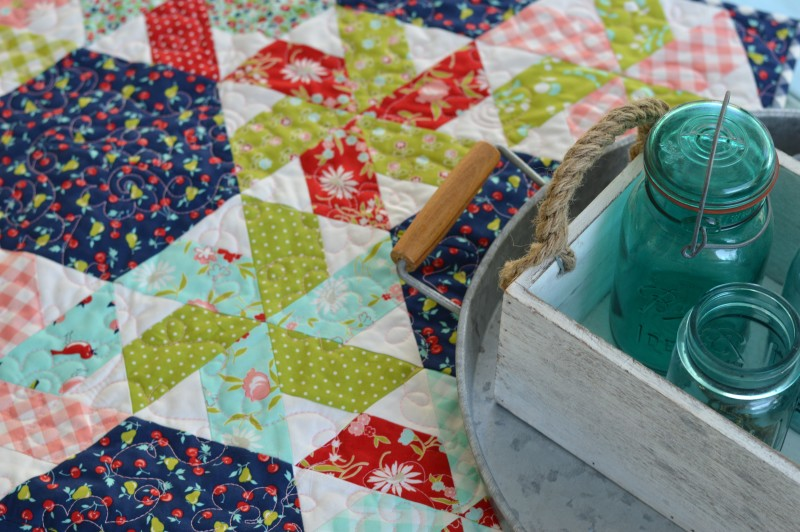 vintage picnic little ruby quilt 5