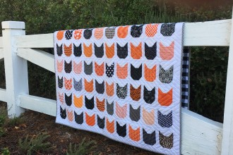 Black and Orange Cat Quilt {Halloween Cats}