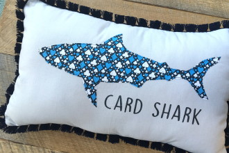 Card Shark Pillow Tutorial