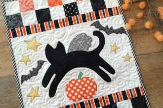 Mini Kitty Halloween Quilt Pattern