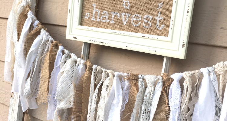 Shabby Fall  Bunting and Farmhouse Fall Decor