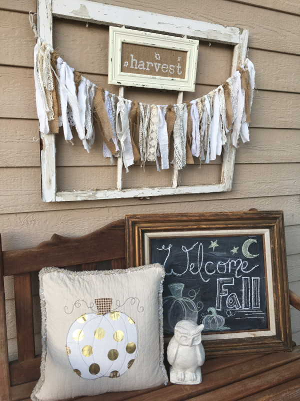Shabby Fall Bunting And Farmhouse Decor