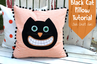 Black Cat Pillow Tutorial