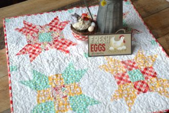 Five Fat Quarter Fun {Free Quilt Pattern} Fresh Eggs