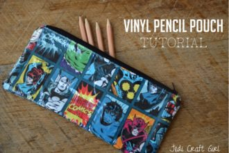Vinyl Covered Fabric Pencil Pouch Tutorial