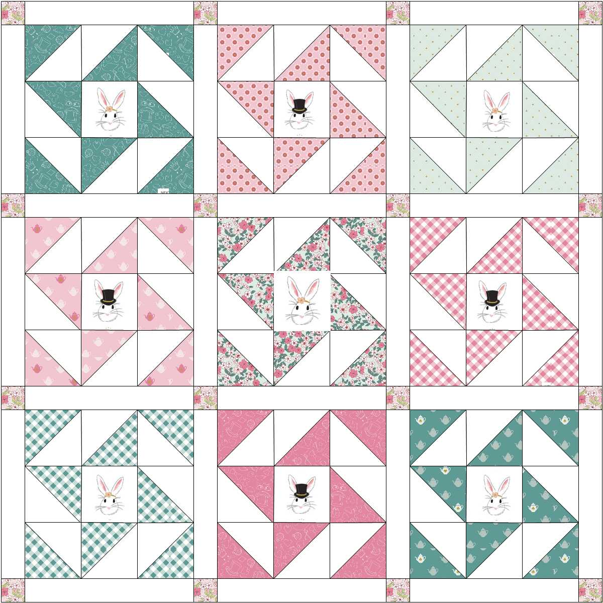 wonderland 2 quilt layout