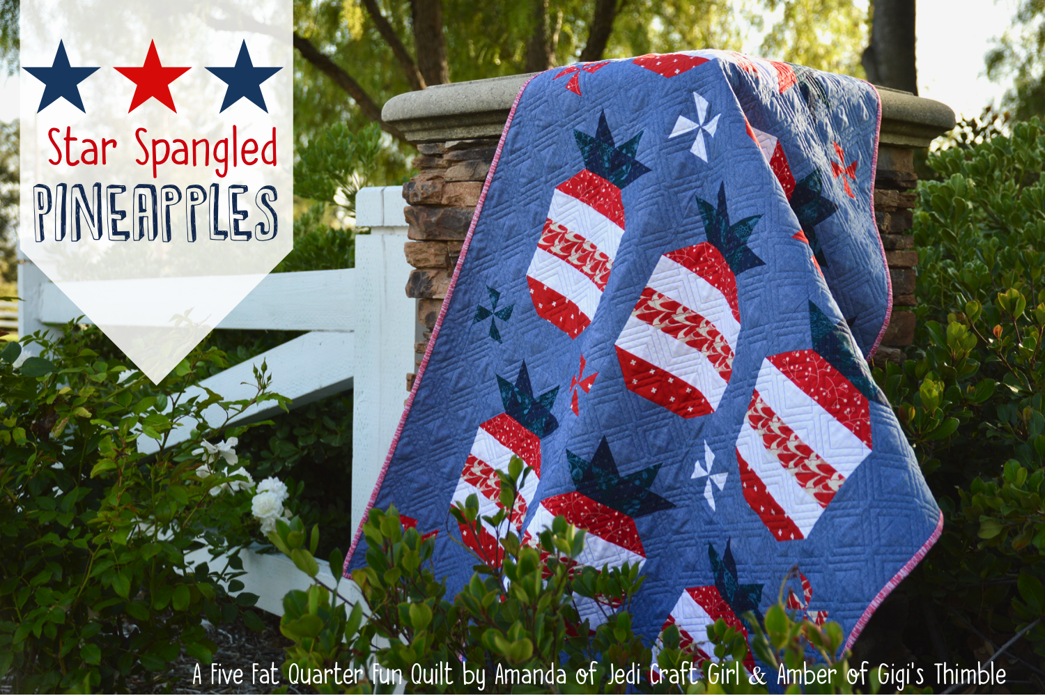 star spangled pineapple quilt