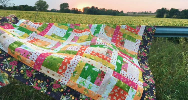 Almost a Log Cabin Quilt Tutorial