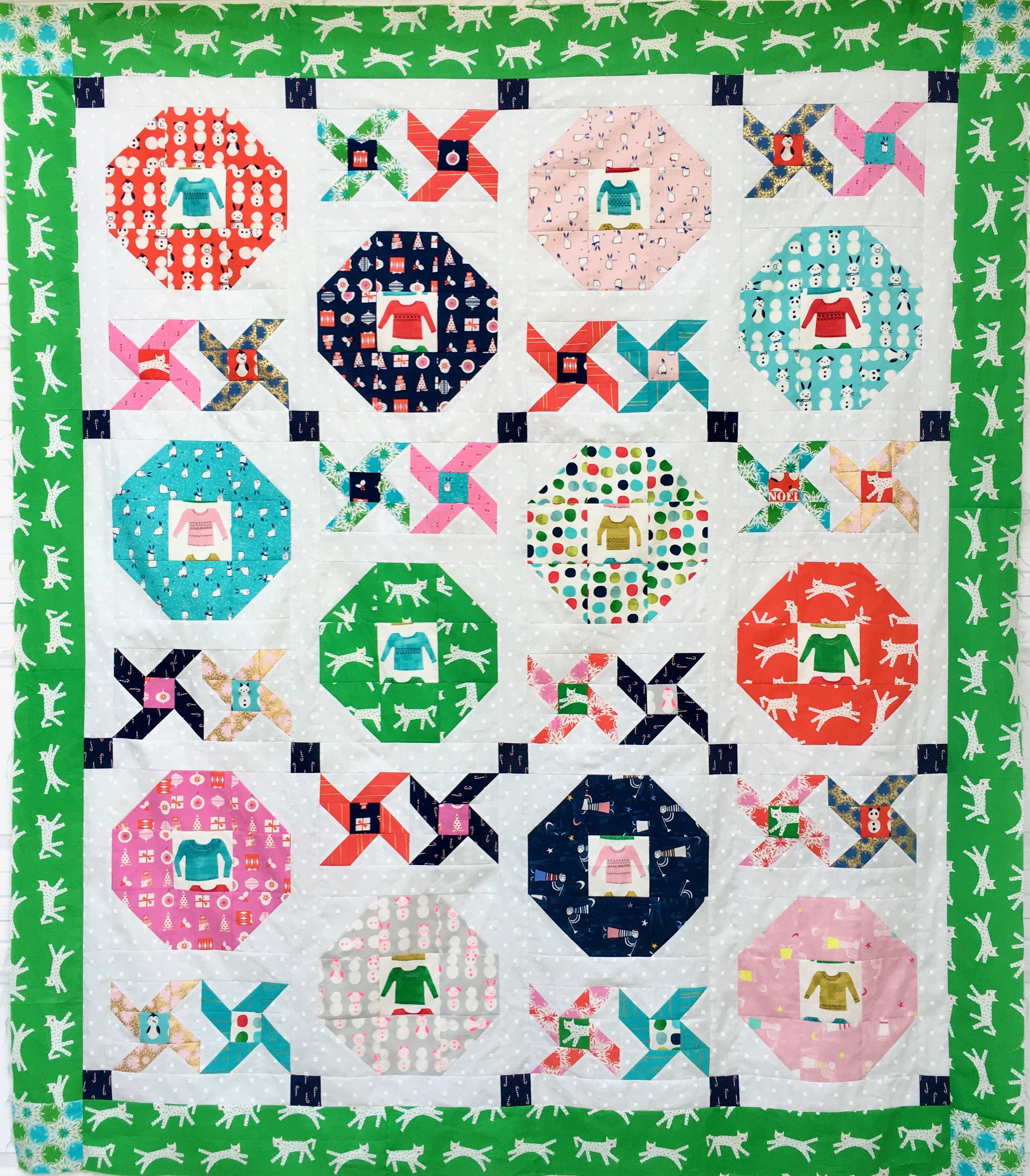 quilt folded pin modern sew katie personality quilts split christmas did
