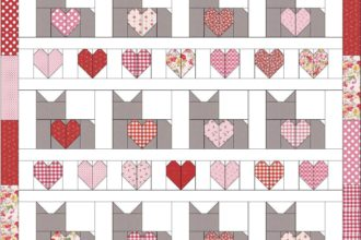 Valentine I Love Cats Quilt