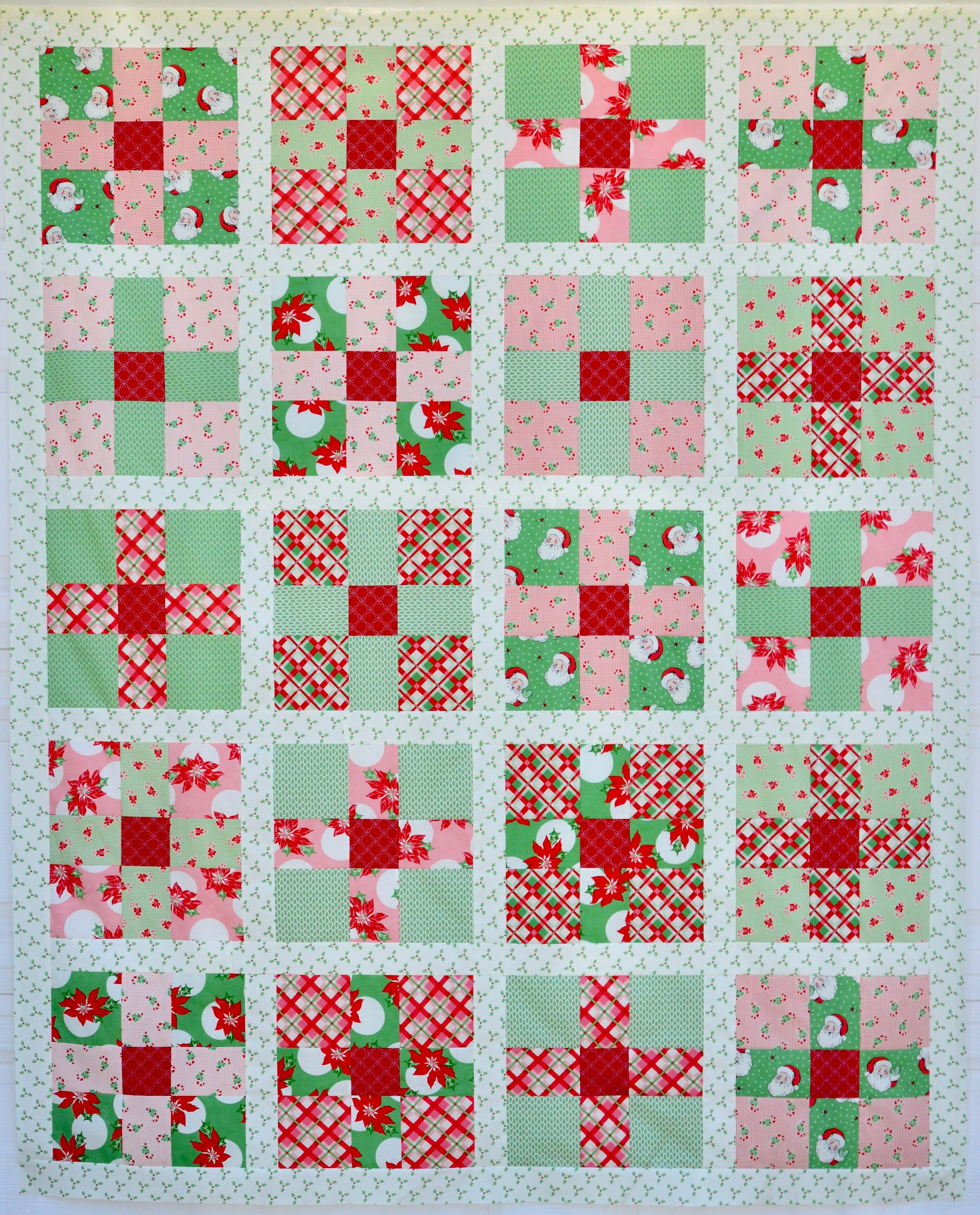 Uneven 9 Patch Quilt Pattern Featuring Swell Christmas