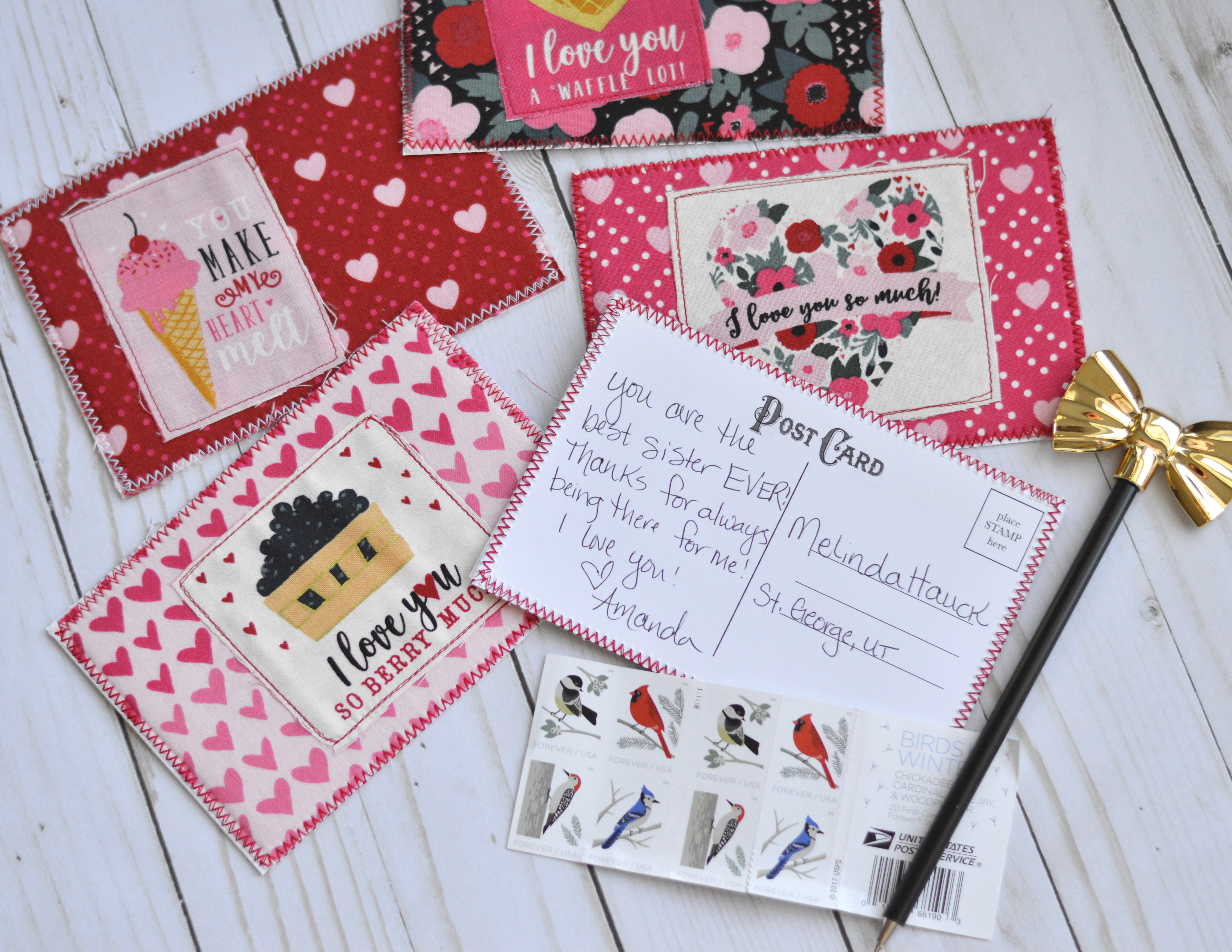 Fabric Postcard Tutorial Featuring Hello Sweetheart By Riley Blake Designs